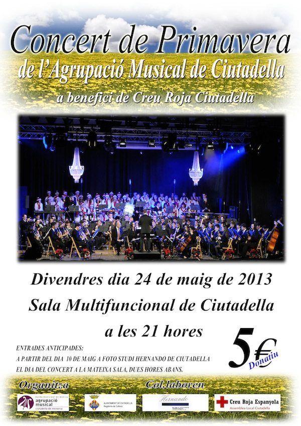 Concert de l'Agrupació Musical de Ciutadella  a benefici de Creu Roja