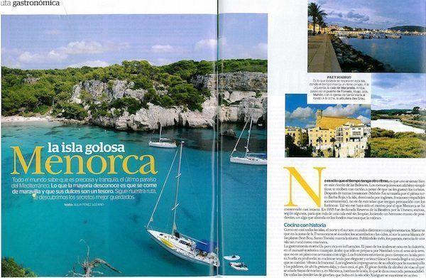Artículo de Menorca en la revista Mía