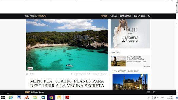 Artículo de Menorca en Traveller