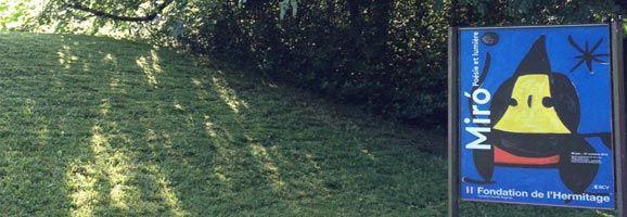 Gilet assisteix a l'exposició: Miró. Poésie et lumière