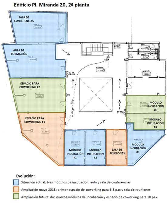 Plano ParcBit Plaza Miranda