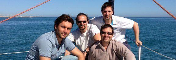 Roger Llovet, Octavi Uyà, Eduardo Robsy y Eduard Llovet, equipo de Sal a Navegar .