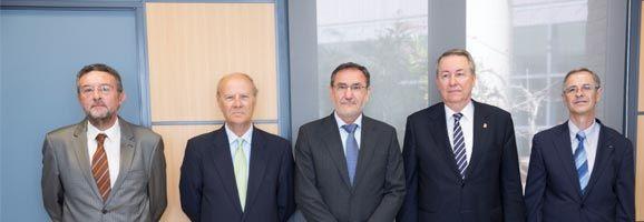 Representants de La Xarxa Vives i l'Acadèmia Valenciana de la Llengua