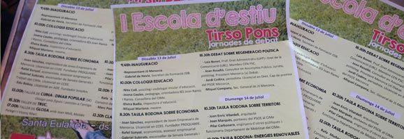 Cartells de la nova escola d'estiu Tirso Pons