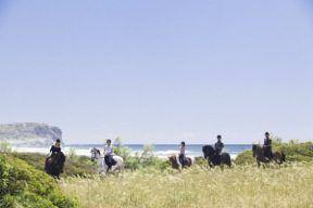 El turismo ecuestre en Menorca goza de la ventaja de un paisaje litoral único.
