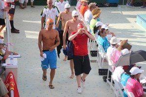 El nadador Pepe Mercadal momentos antes de la competición.