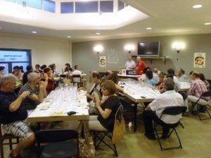 La sesión de maridaje se realizó la tarde del 6 de Julio dentro de los actos programados por la Academia Tastavins durante la celebración del Vijazz 2013.