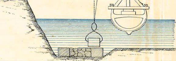 Retall d'un dels dibuixos de l'Arxiu del fons documental de la conselleria de Medi Ambient.