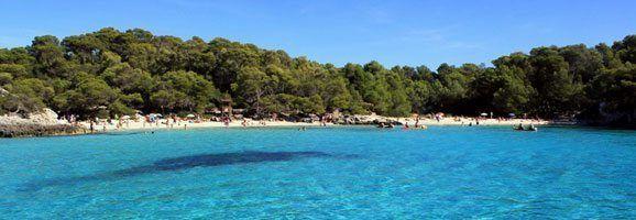 Imatge de la platja de Cala en Turqueta, a Ciutadella.