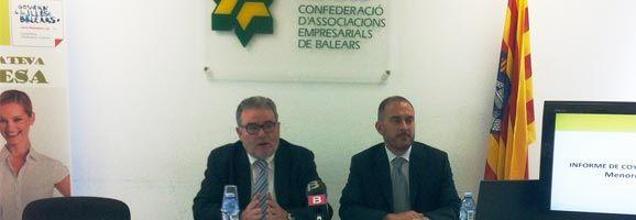 Joan Melis, vicepresidente, y Josep Fortuny, presidente de la CAEB Menorca.
