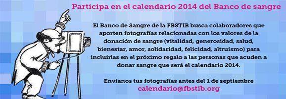 Participa en el Calendario 2014 del Banco de Sangre