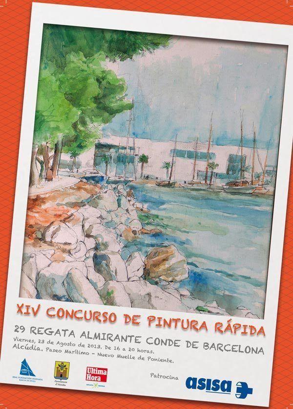 """El arte, protagonista de regata """"Almirante Conde de Barcelona"""" en el Puerto de Alcudia"""