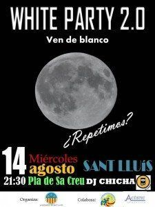 Cartell informatiu de la White Party 2013