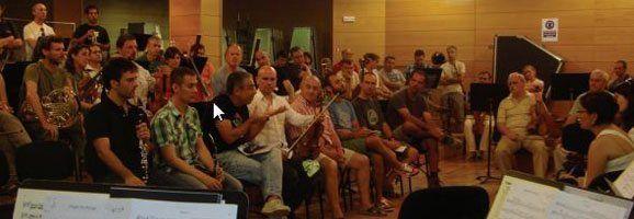 Imatge de la roda de premsa celebrada avui pel GOB i la Orquesta Simfònica de les Illes Balears.