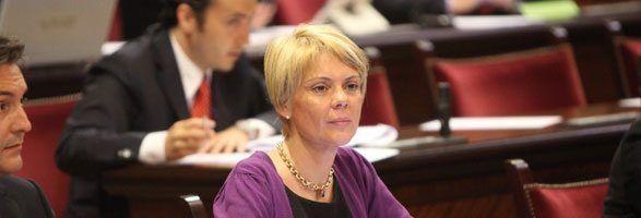 La portavoz de Educación del PP en el Parlament, Aina Aguiló.