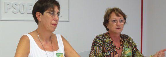 Joana Barceló i Cristina Rita en roda de premsa.