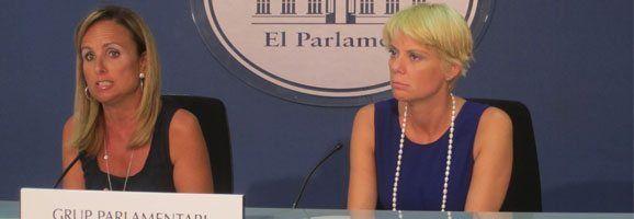 Mabel Cabrer y la portavoz de Educación del Grupo Parlamentario Popular, Aina Aguiló, han declarado sobre pleno extraordinario y el inicio curso parlamentario.