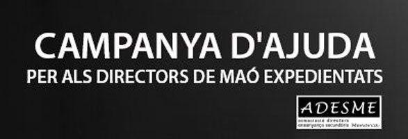 Campaña d'ajuda als directors expedientats de Maó.