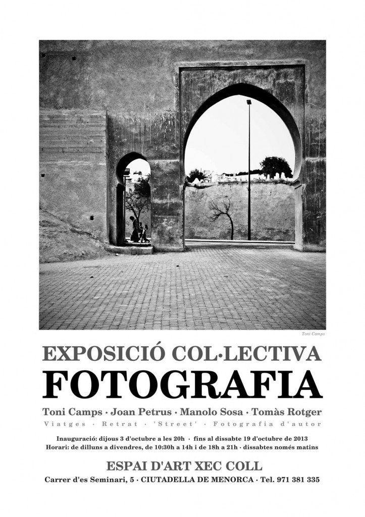 Cartel de la exposición colectiva de Toni Camps, Joan Petrus y Manolo Sosa.