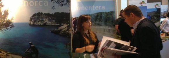 Estante promocional de las Baleares en la feria Eurobike.