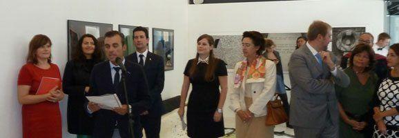 Inauguración de la exposición Joan Miró's Printmaking Workshops, en Ljubljana.