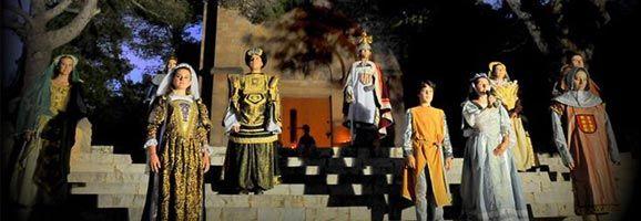 Espectacle Les petjades el Rei en Jaume.