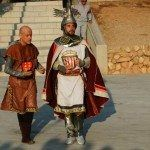 Escena de l'espectacle Les Petjades del Rei en Jaume.