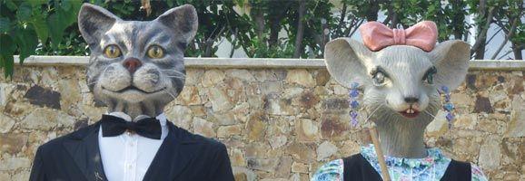 En Martí i na Valentina, els originals Gegants de Calonge, són els convidats d'aquest any a les Festes de Gràcia.