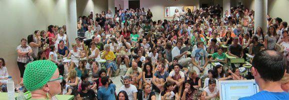 Assemblea d'estudiants avui horabaixa a Sineu.