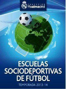 Cartell de la Segona Edició de pràctica de fútbol amb l'Escola Sociesportiva del Real Madrid.