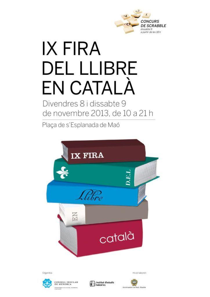 Cartell de la IX Fira del LLibre a Maó.