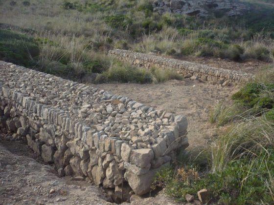 Els encadenats de paret frenen el processos d'erosió.