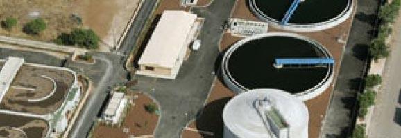 Fotografia aèria de la depuradora de Pollença.