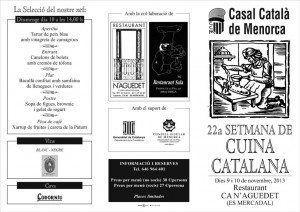 Programa de Cuina Catalana. Segona pàgina.