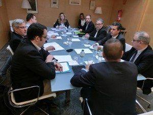 Salomé Cabrera reunida amb el Comité de Rutes Aèries.