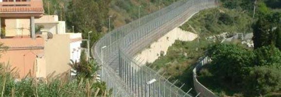 Perímetro fronterizo de Ceuta.