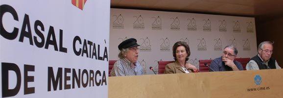 Miquel Màrquez i Maruja Baíllo en la roda de premsa sobre la Setmana de Cuina Catalana.