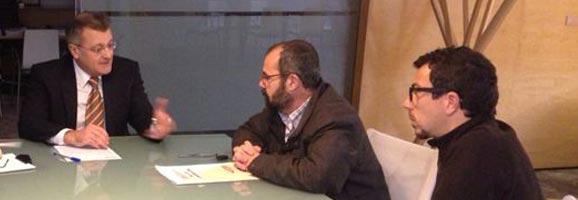Tadeo i Alejandre es reuneixen amb CCOO per rallar de la privatització d'Aena