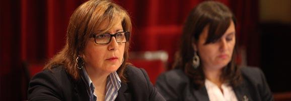 La diputada del Grupo Parlamentario Popular, y portavoz de Medio Ambiente, Virtudes Marí.
