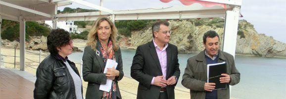 Salomé Cabrer y Santiago Tadeo en Arenal den Castell.