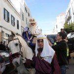 Cabalgata de los Reyes Magos en Es Castell.