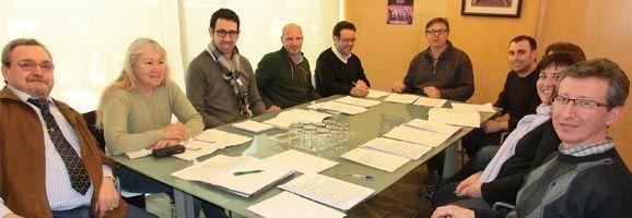 La Comissió Assessora d'Artesania de Menorca a la reunió al Consell Insular.