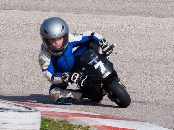 Xavier Martinez, ganador de la prueba Minimotos Promo A - R10.
