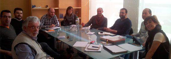 Reunión de la conselleria de Benestar Social i Joventut de Menorca y la Fundación de Discapacitados.