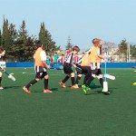 Els Joves jugadores es van reunir a Son Marçal per practicar Futbol-6.