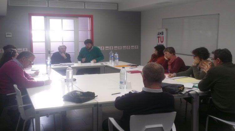 Reunió que Carbonero ha mantingut amb responsables orgànics i institucionals de les diverses agruacions del PSOE Menorca