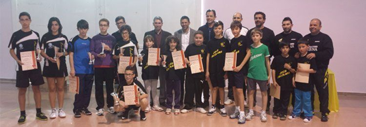 Los clasificados para representar Menorca en las Fases Baleares de Tenis de Mesa.