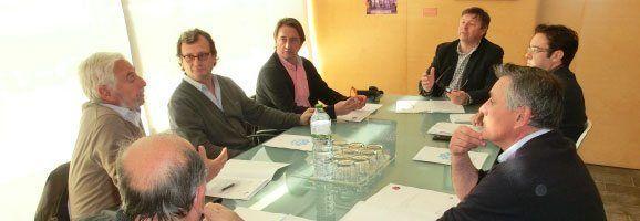 Reunió amb els productors de Vi de Menorca.