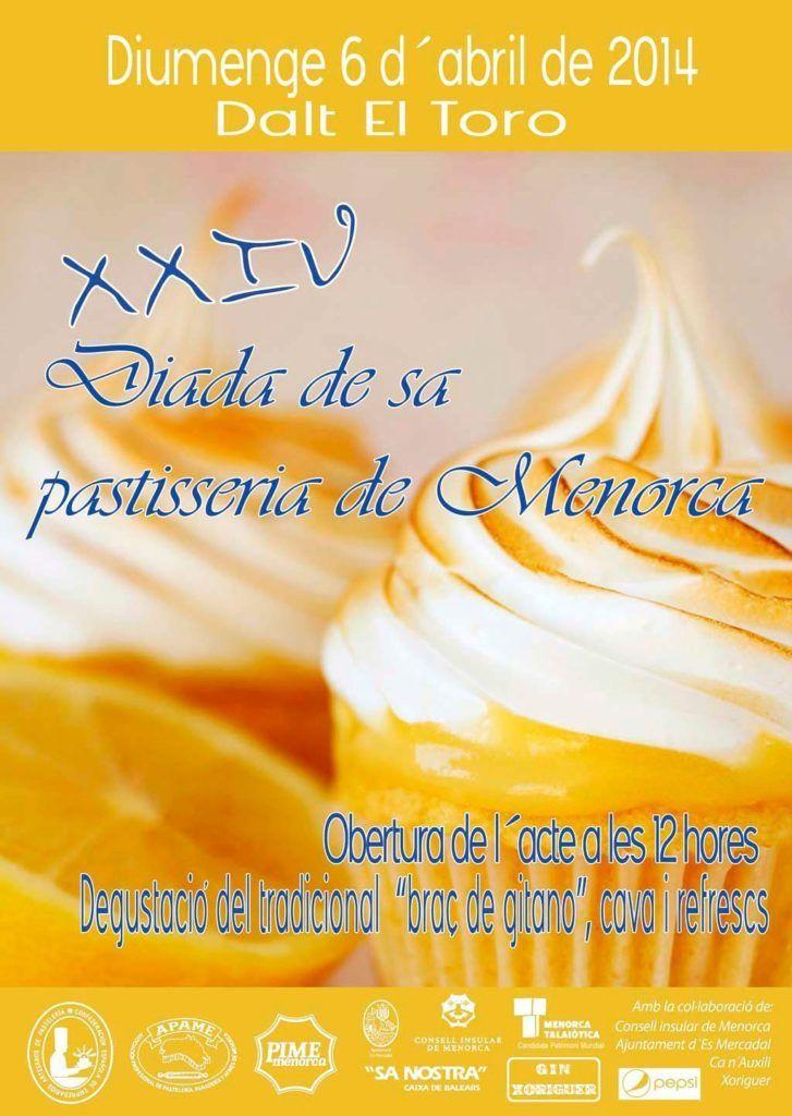 Cartel de la Celebración de la 24ª Diada de Sa Pastisseria de Menorca.