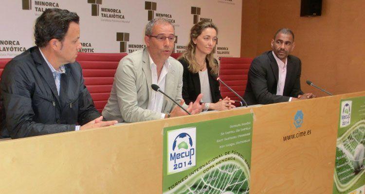 Fotografia de la roda de premsa de presentació del nou projecte Mecup.